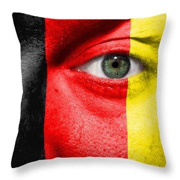 Go Belgium Throw Pillow by Semmick Photo