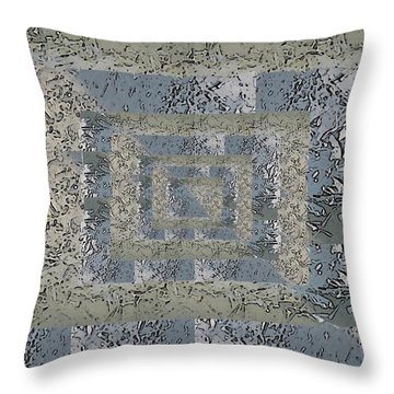 Go With The Floe 4 Throw Pillow by Tim Allen