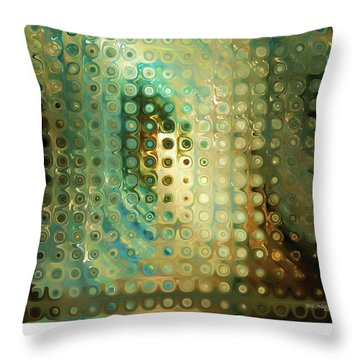 God-breathed. Christian Poster Throw Pillow by Mark Lawrence
