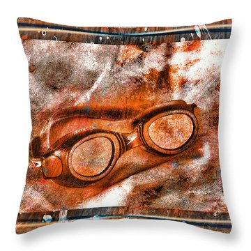 Goggles Throw Pillow by Mauro Celotti