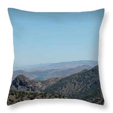 Gold In The Hills Virginia City Nv Throw Pillow by LeeAnn McLaneGoetz McLaneGoetzStudioLLCcom