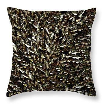 Golden Leaf Throw Pillow by David Dehner