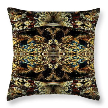 Golden Split Crop Throw Pillow by Peggi Wolfe