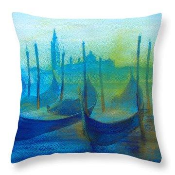 Gondolas Throw Pillow by Khromykh Natalia