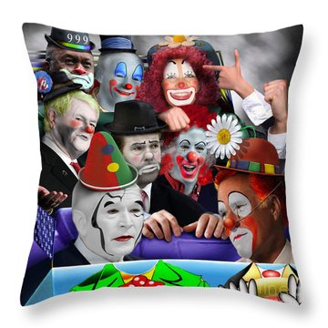 Gop - The Greatest Show On Earth Throw Pillow by Reggie Duffie