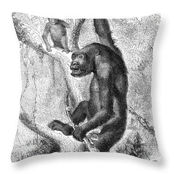 Gorilla Throw Pillow by Granger