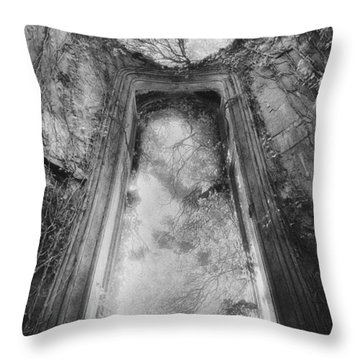 Gothic Window Throw Pillow by Simon Marsden