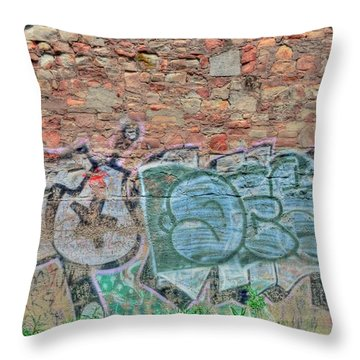 Graffiti Throw Pillow by Kathleen Struckle