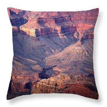 Grand Canyon Evening Interior Throw Pillow by Michael Kirsh