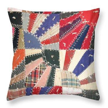 Grandma Baird's Quilt Throw Pillow by Wayne Potrafka