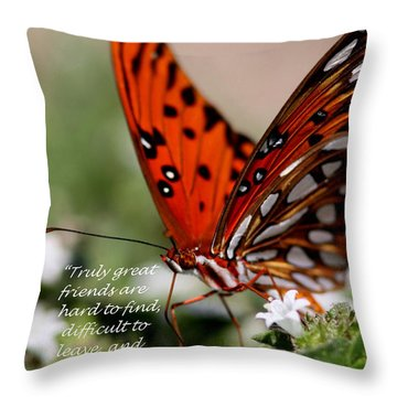 Great Friends Card Throw Pillow by Travis Truelove