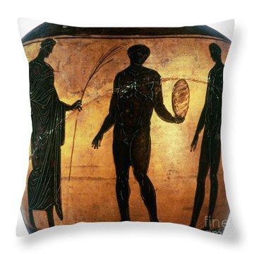 Greek Olympian Throw Pillow by Granger
