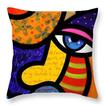 Gretchen Buys A Hat Throw Pillow by Steven Scott