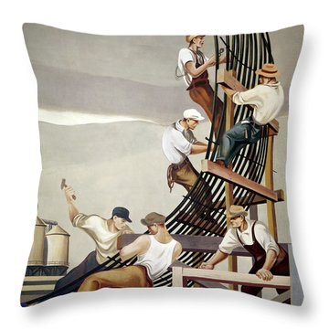 Gropper: Dam, 1939 Throw Pillow by Granger
