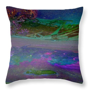 Throw Pillow featuring the digital art Grow by Richard Laeton