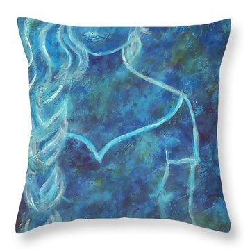 Guinevere Throw Pillow by The Art With A Heart By Charlotte Phillips