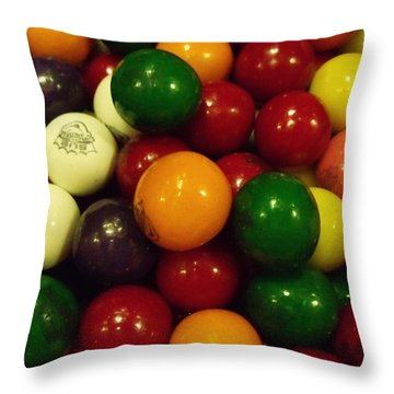Gumballs Throw Pillow by Anna Villarreal Garbis