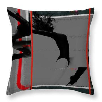 Gymnastics Throw Pillow by Naxart Studio