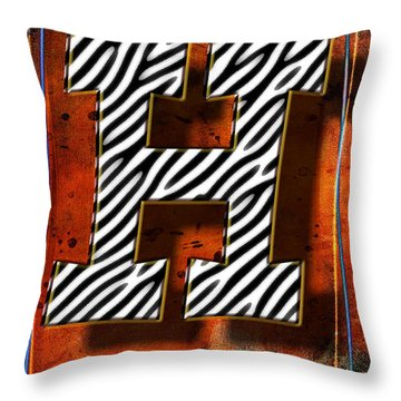H Throw Pillow by Mauro Celotti