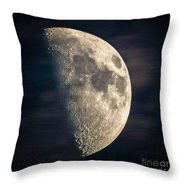 half moon III Throw Pillow by Hannes Cmarits