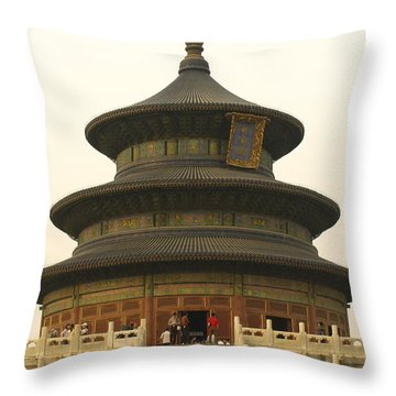 Hall Of Prayer For Good Harvests Throw Pillow by Richard Nowitz