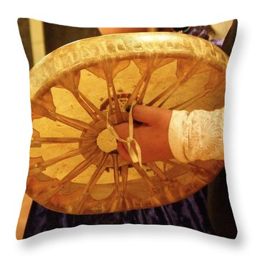 Hand Drum Throw Pillow by FeVa  Fotos