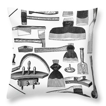 Hand Tools, 1876 Throw Pillow by Granger