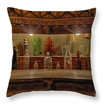 Happy Hour Throw Pillow by Susan Candelario