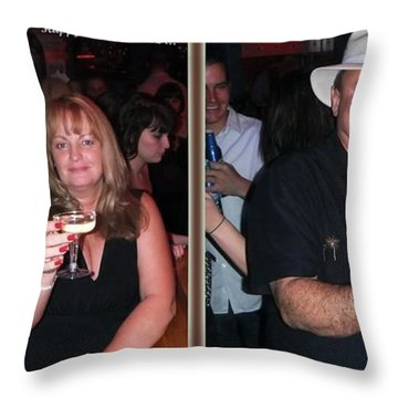 Happy New Year - Gently Cross Your Eyes And Focus On The Middle Image That Appears Throw Pillow by Brian Wallace