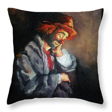 Happy While He Dreams Throw Pillow by Natalia Tejera