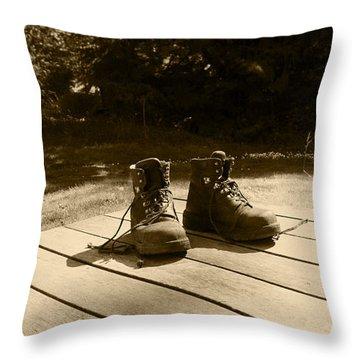 Hard Days Work Throw Pillow by Kym Backland