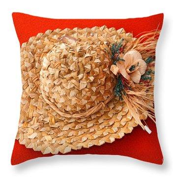 Hat Throw Pillow by Gaspar Avila