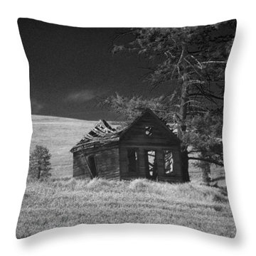 Haunted House Throw Pillow by Anne Mott