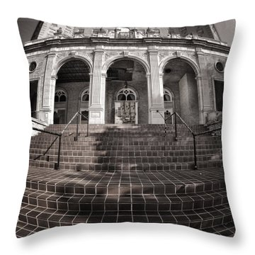 Haunted House Throw Pillow by Joan Carroll
