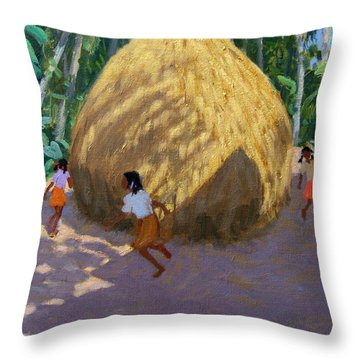 Haystack Throw Pillow by Andrew Macara