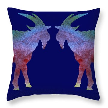 Head To Head Throw Pillow by Jenny Armitage