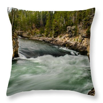 Heading For The Fall Throw Pillow by Robert Bales