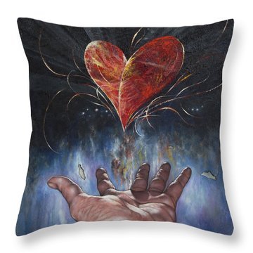 Heart And Soul Throw Pillow by Jan Camerone