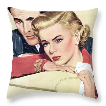 Heartache Throw Pillow by English School