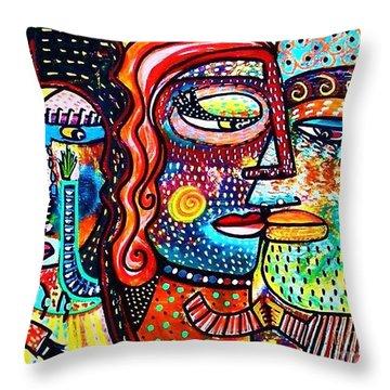 Heartbreak Dance Throw Pillow by Sandra Silberzweig