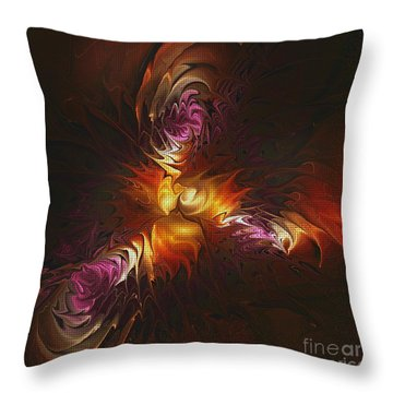 Heat Of Passion Throw Pillow by Deborah Benoit