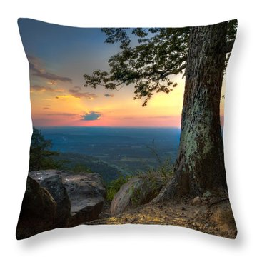 Heaven On Earth Throw Pillow by Debra and Dave Vanderlaan