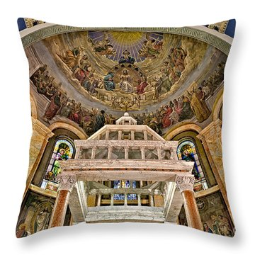Heavenly Altar Throw Pillow by Susan Candelario
