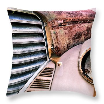 Heavy Metal Throw Pillow by Susan Smith