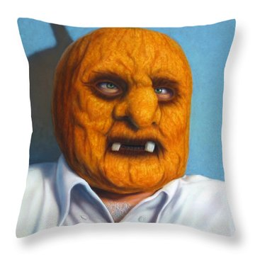 Heavy Vegetable-head Throw Pillow by James W Johnson