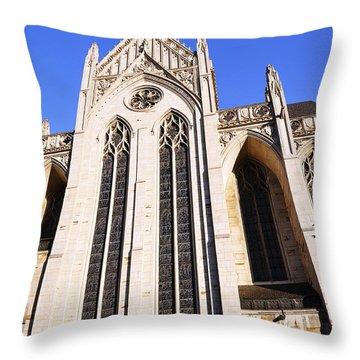 Heinz Chapel Throw Pillow by Thomas R Fletcher