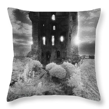 Helmsley Castle Throw Pillow by Simon Marsden