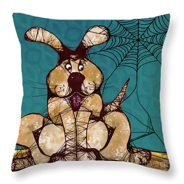 Her Woven Web Throw Pillow by Laura Brightwood