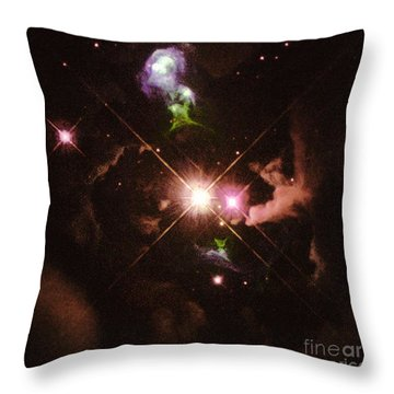 Herbig-haro 32 Throw Pillow by Space Telescope Science Institute / NASA