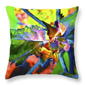 Hidden In Color Throw Pillow by Gwyn Newcombe